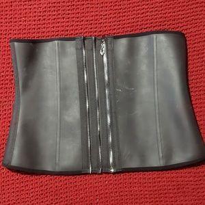 Burvogue Zipper Corset Waist Trainer Latex XL